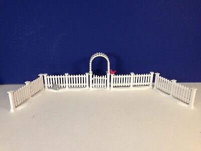 Dept 56 Heritage Village WHITE PICKET FENCE WITH GATE w/ box Combine Shipping!