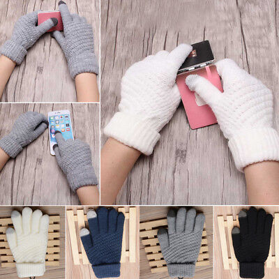 Winter Warm Womens Mens Touch Screen Wool Knit Gloves Texting Smartphone Phone