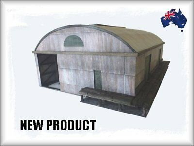 HO Scale Australian WGS Format 60' Iron Goods Shed with Curved Roof