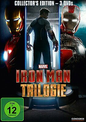 Iron Man 1+2+3 Trilogie (Collector's Edition) # 3-DVD-BOX-NEU