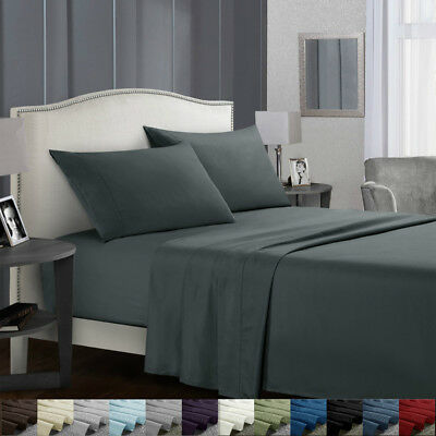 Flat Fitted Bed Sheets Set Deep Pocket Twin Full King Queen Bedding  Essentials