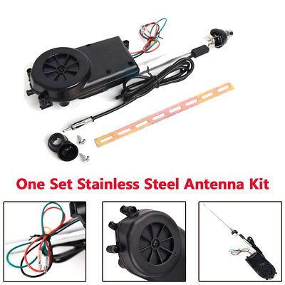 Car Auto AM//FM Radio Mast Electric Power Antenna Aerial 12V Stainless steel K0O3