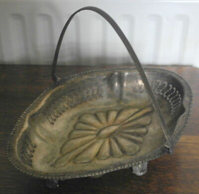 antique silver plate  serving fruit BOWL