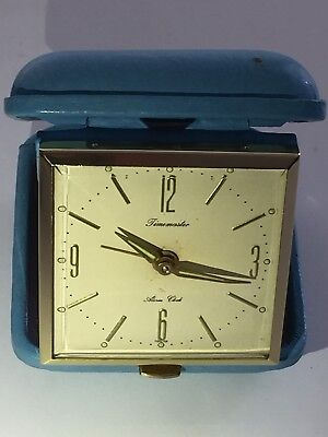 "Vintage Of 1970's ""TIMEMASTER"" Travelling Alarm Clock In Box Rarely Been Used"