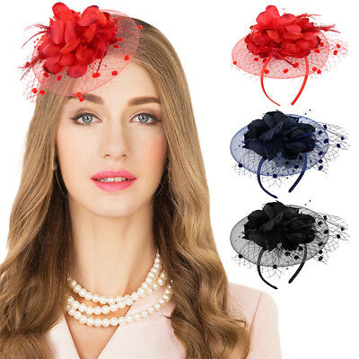 Harupink Hut Fascinator Stirnband Aliceband Hochzeiten Damen Race Royal Ascot DE