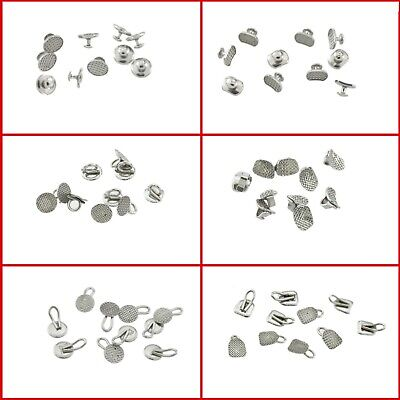 50* Dental Orthodontic Lingual Button Direct Bond Eyelets Traction Hook Welding