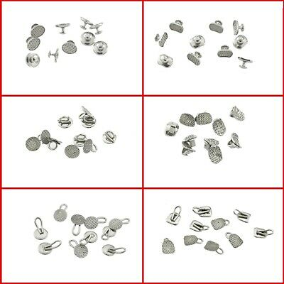 50*Dental Orthodontic Lingual Button Direct Bonding Eyelets Traction Hook Cleat
