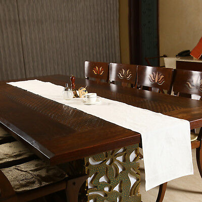 Handmade Linen Table Runner For Wedding Party Kitchen Dining Tablecloth