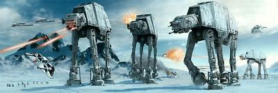 Star Wars Poster AT-AT Fight Langbahnposter - Querformat Film Plakat 158 x 53 cm