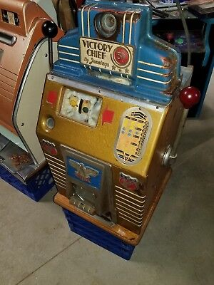 Jennings Victory Chief war time nickel 5 cent Slot Machine 1942-1944 unrestored