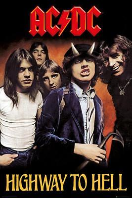 AC/DC Poster - Highway to Hell - Bandposter Band Merch - Rock Musik 61 x 91,5 cm