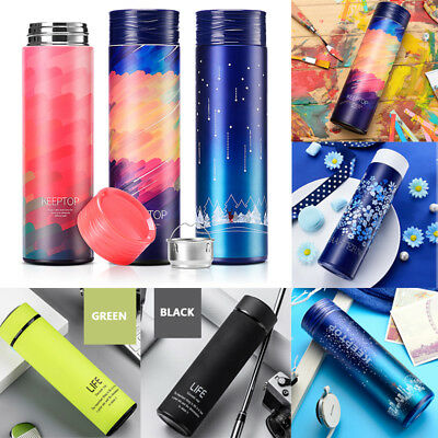 Hot Life Stainless Steel Vacuum Flask Water Bottle Thermos Coffee Cup Travel Mug
