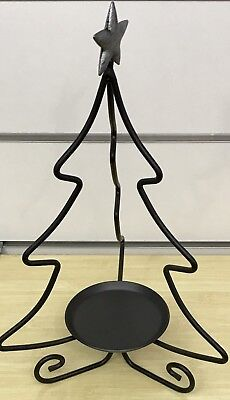 Longaberger Foundry Wrought Iron Christmas Tree Candle Stand