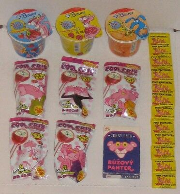 Pink Panther Lot Gum Stickers Card Game Cool Crib Fantasy Ball Candy Lollipops