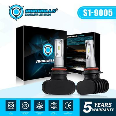 9005 HB3 CSP LED Headlight Bulb Conversion Kit 243000LM 6500K Xenon White Pair