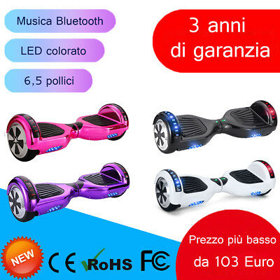 6.5'' Bluetooth Skateboard Smart Balance Overboard Elettrico Scooter Overboard