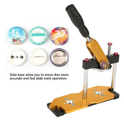 Gold Badge Button Maker Press Machine Pin Button Emblem Making Metal DIY Tool