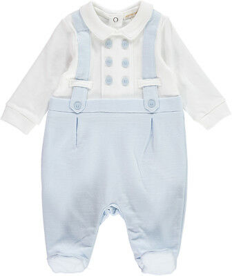 Mintini Baby Boys Spanish Style Romany Faux Braces Romper Babygrow Outfit AW'18