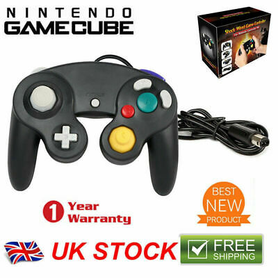 Shock Video Game Controller Pad for Nintendo Game Cube GC& Wii Black Gift