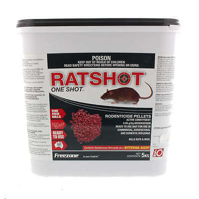 iO Rat Shot One Shot Pellet Rodenticide Red Brodifacoum Freezone 5kg