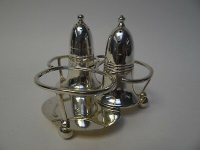 EPNS Cruet Stand with Pepper Shakers, One From Strick Lines by Mappin & Webb