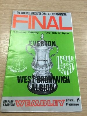West Bromich Albion V Everton Fa Cup Final 1967/68
