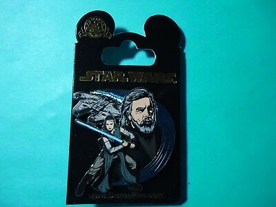 Disney Star Wars Rey Luke Millennium Falcon The Last Jedi Pin **NEW ON CARD**