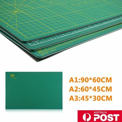 A1 A2 A3 PVC Self Healing Cutting Mat Craft Quilting Grid Lines Printed Board OZ
