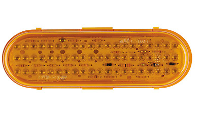 Maxxima Stop/Tail/Turn Light, 60 LED, Amber, Oval Red  M63100Y