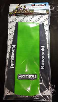 Kawasaki Seat cover KX 125 / 250 2003 - 2008 Black Green Logo Motocross Enjoy