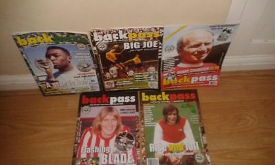 5 backpass magazines   no  56  57  58 59  and 60