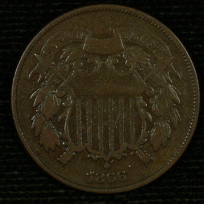 Two Cent Piece. 1866 VG. Lot # 9018-85-066