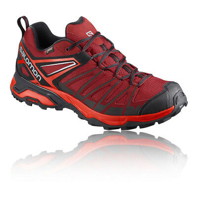 Salomon Mens X Ultra 3 Prime Gore-Tex Walking Shoe Red Sports Outdoors Trainers