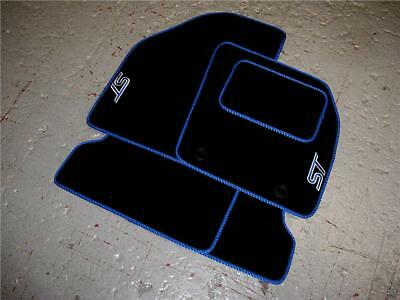 Black Car Mats To Fit Ford Focus Rs Mk3 2015 2018 Light Blue Rs