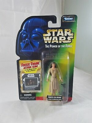 Star Wars Power of the Force Princess Leia Organa in Ewok Celebration outfit NIP