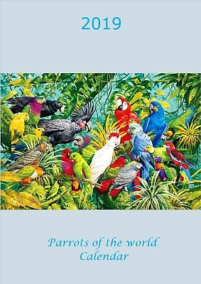 Parrots of the World Calendar 2019 A4
