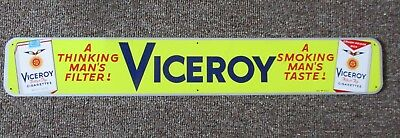 RARE 1950s VICEROY CIGARETTES Metal DOOR PUSH SIGN....NOS & NICE!