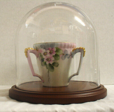 """New 5.5"""" x 5.5"""" Glass Display Dome and Base of Your Choice (GLD-55)"""