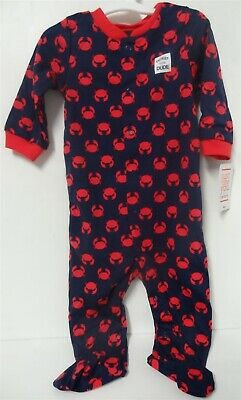 Carter's Baby Boys' Crab Cotton Sleep N' Play 9 Months Navy/Red