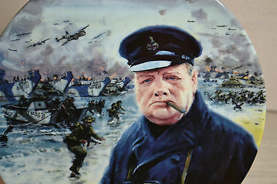 Limited Edition Plate By Royal Doulton / D Day Landings / Churchill Ww2