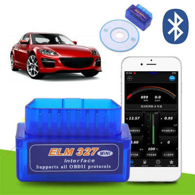 ELM327 OBD2 II Bluetooth Diagnostic Scanner Android Torque Auto Scan Tool