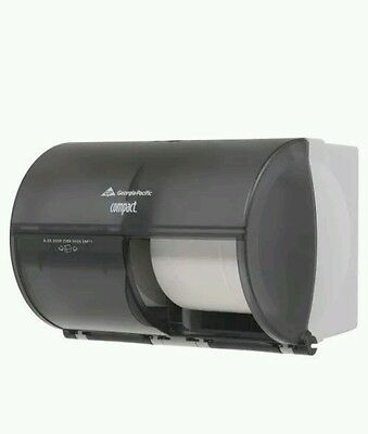 NEW Georgia Pacific Compact Toilet Paper Holder Side by Side Dispenser 56784