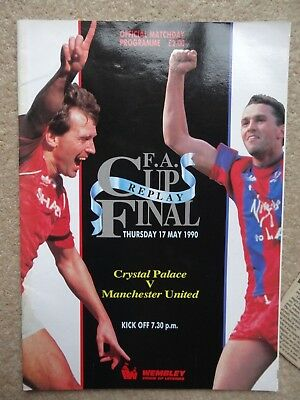 Crystal Palace V Manchester United Fa Cup Final Replay Football Programme 1990