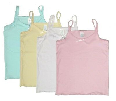 4-Pack Cami Toddler Girls Tank Top Undershirt Spaghetti Strap Camisole Kids nwt