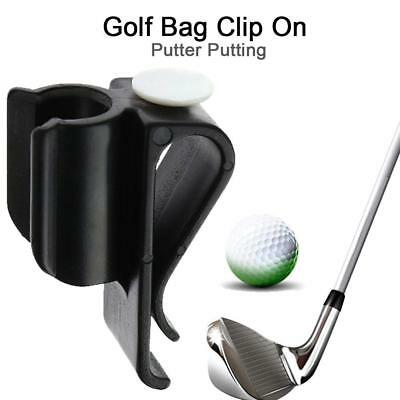 Golf Club Bag Clip On Putter Clamp Holder Putting Organizer Ball Marker Partner