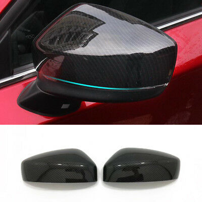 ABS Sport Carbon Fiber Rearview Mirror Cover Trim For Mazda CX-5 CX5 2017 2018