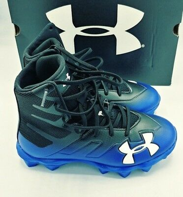724029e17 Under Armour UA Highlight RM JR Youth Football Cleats 3000195 002 3.0Y BLK  BLUE