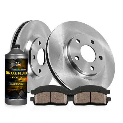 Stirling 2016 For Ford Escape Rear Disc Brake Rotors and Ceramic Brake Pads