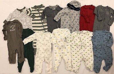 Lot Of Infant/baby Boy Clothes - Burts Bees/little Me/old Navy/carters