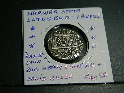 """Indian Narwar State Lotus  """"rare"""" Coin Au+ Very Old 550+ Years"""